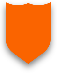 SHIELD BLOCKED OUT SHADOW ORANGE